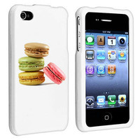 White Apple iPhone 4 / 4S  Hard Case Cover Macarons