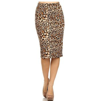 2018 Hot Ladies New Fashion Women's Leopard Pencil Skirt High Waist Floral Grid Printing Middle Skirts Muti Colors