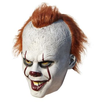 Stephen King's It Pennywise Latex Scary Mask Clown Cosplay Halloween