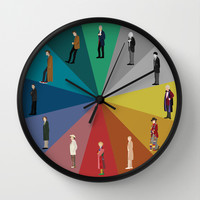 Doctor Who? Wall Clock by The Joyful Fox