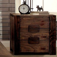 Birdwell Transitional 2-Drawer Nightstand in Natural