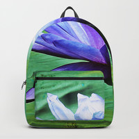 Purple Water Lily Backpacks by minx267