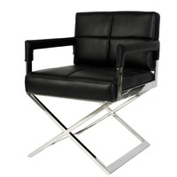 Black Leather Desk Chair | Eichholtz Cross