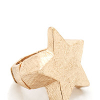 textured-star-ring GOLD SILVER - GoJane.com