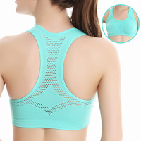 Ladies Hollow out quick dry women sports bra