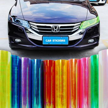 Car styling 13 Colors 30x100cm Car Light Headlight Taillight  protect Film Sticker on Lamp Stickers Brake Light Accessories BB