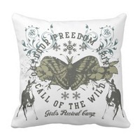 Outdoor Freedom Spirit - Call Of The Wild Throw Pillow