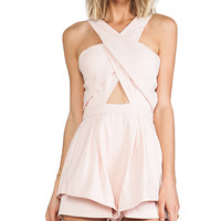 Finders Keepers Like Smoke Playsuit in Blush