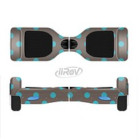 The Gray & Blue Polka Dot Full-Body Skin Set for the Smart Drifting SuperCharged iiRov HoverBoard