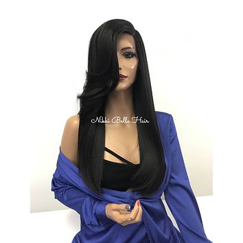 Black Silky Lace Front Wig - Designer Crush  121754