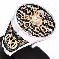 Ring Dream Theater Custom Made 925 Sterling Silver / 18kt Gold Pld
