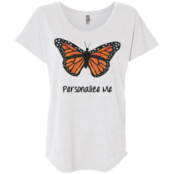 Monarch Butterfly Personalized Ladies' Triblend Dolman Sleeve