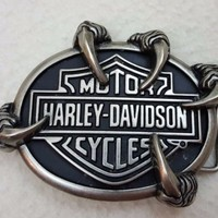 Harley Davidson Motorcycles Eagle Talon Claw 2014 Belt Buckle with Box