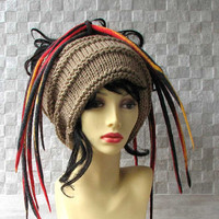 Dread Tube Dredlocks Accessories Dread Hat Camel  Dreadlock tube hat, dreadlock headband, Tam Hat wide hair wrap, handmade