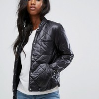 Noisy May Quilted Puffer Jacket at asos.com