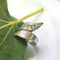 Leaf ring,Sterling silver ring,branch ring, clear quartz, gift idea, personalized ring,handmade ring,ring for women,holiday,unique ring