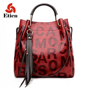 2017 new fashion split leather Women bag women's handbag Shoulder lady's messenger bag luxury Designer high capacity handbags