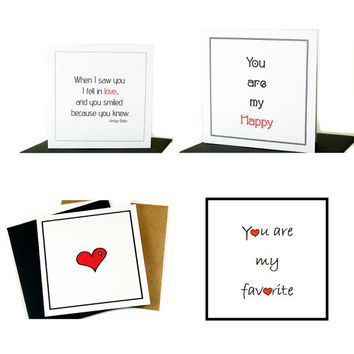 Love Note Assortment Pack of Cards for Valentines Day, Anniversary or Just Because.  Variety Pack Valentine's Day Cards.