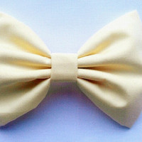 baby yellow fabric hair bow
