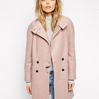 ASOS Coat With Notch Detail at asos.com