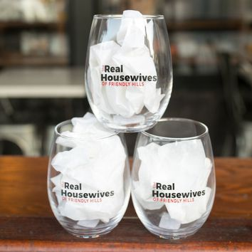 THE REAL HOUSEWIVES OF FRIENDLY HILLS WINE GLASS