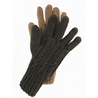 Reversible Double Knit Alpaca Gloves