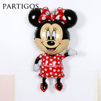 46inch Large Mickey Minnie Mouse  Balloon Cartoon Helium Foil Birthday Party Inflatable Globos Supplies for Children Gifts