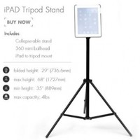 Grifiti Nootle iPad Tripod Mount and Stand: iPad Tripod Mount (2, 3 and 4), Aluminum Adjustable Music/Light Tripod Stand, and Nootle Mini Ball Head Perfect for Coaches, Teachers, Video, Photography, Music, Presentions, Displays, Tradeshows, Home, and Offic