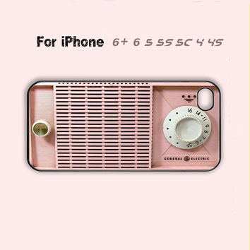 Retro Cute Pink Radio Phone Case Funny Cover iPhone 4 4s 5 5s 5c 6 Plus + Cool -5 Colors Available