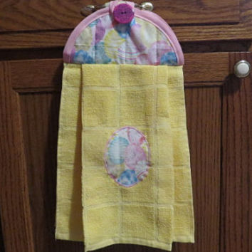 Hanging Kitchen Towel, Hanging Hand Towel, Hanging Tea Towel, Hanging Dish Towel, Easter Egg Towel