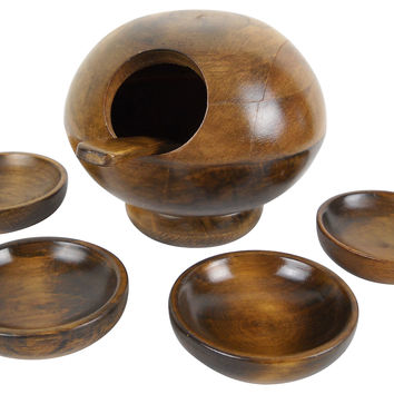 Midcentury Orb Nut Bowl and Serving Set