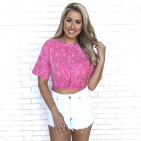 Hot To Handle Crop Top In Hot Pink