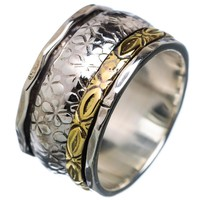 Spinner Ring -  Two Tone Big & Small Spinners