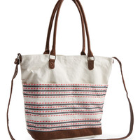 Novelty Textured Stripe Tote