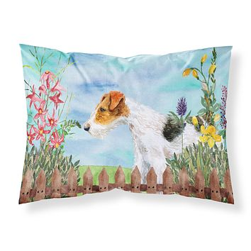 Fox Terrier Spring Fabric Standard Pillowcase CK1212PILLOWCASE