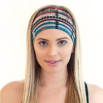 1PC Fashion Women's Wide Sports Yoga Headband Stretch Hairband Elastic Cotton Hair Band Boho Turban 2016 New