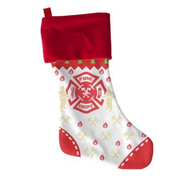 Firefighter Christmas Stocking