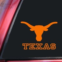 Texas Longhorn UT Vinyl Decal Sticker - Orange