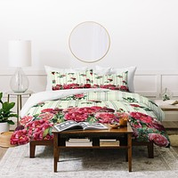 Belle13 Vintage Rose Pattern Duvet Cover