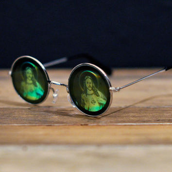 Holographic Hologram 3D Sunglasses - Jesus