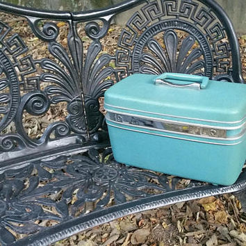 Samsonite Silhouette Aqua Train Case with Tray