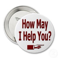 How May I Help You Button from Zazzle.com