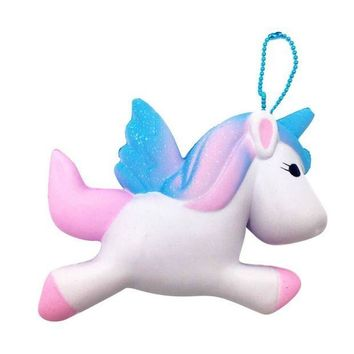 MDIGMS9 Exquisite Cute Squishy Unicorn Toy Slow Rising for Children Adults Relieves Stress Anxiety Cabinet Decoration Sample Model