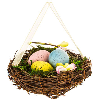 Nest Ornament with Eggs | Hobby Lobby