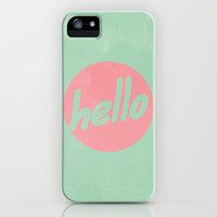 Hello iPhone & iPod Case by Grace