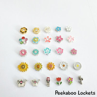Garden & Flower Themed Floating Charms for Floating Glass Lockets