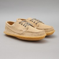 Quoddy Classic Maliseet Oxford (Sand Suede / Honey Crepe Sole) | Oi Polloi