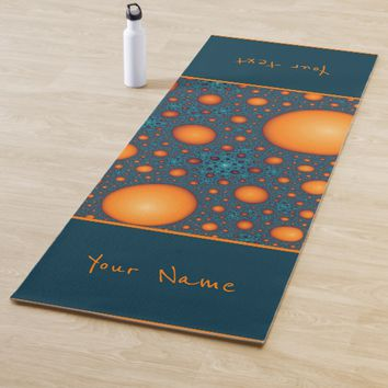 Orange bubbles. Add your name or custom text. Yoga Mat