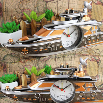 High Quality Modern Minimalist Candy Color Round Dual Mute Alarm Clock Desktop  Clock 28*5*11cm