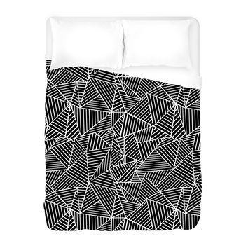 Ab Lines Black Duvet Cover